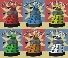 Doctor Who: Dalek Print Set by NeroStreet