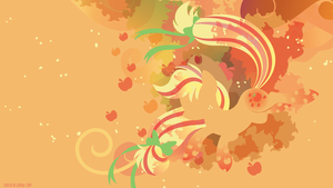 Rainbow Power Applejack Silhouette Wall by SambaNeko