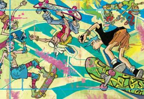 Mad Sk8boarding Graffiti by mohoohaha