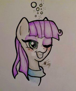 Maud got into the cider again... by MattColvin