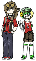 Alex And Aiden Design Update by ninja-inu