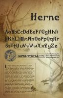 Herne Font Poster by RKDNproductions