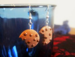 Cookie Earrings with a bite by Lassarina-Jewelry