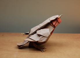Origami Robin by nekomancer123