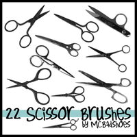 Scissor Brushes by mcbadshoes