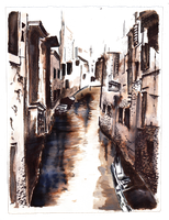 Venice in Quink ink by forget-the-sun
