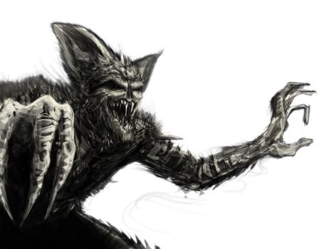 The Bat in Feral Mode by EdSludden