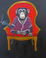 Smoking Monkey by Mau-Ve
