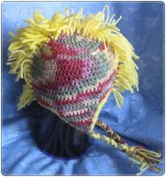 Kids Spring Yellow Mohawk Hat by giraffesonparades