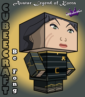 3D Cubeecraft of Lin Beifong from Legend of Korra by SKGaleana