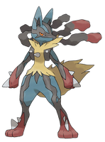 Mega Lucario (Offical Artwork) by ApexTDF