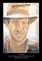 Sketch Card-Indiana Jones 11 by TrevorGrove