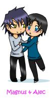 Magnus and Alec by its-teh-chibi