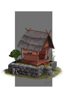 Javanese village by SalehPasa