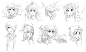 Gaiaonline: Headshots by snowy-town