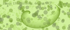 Happy 13th Birthday, DeviantART! by RussellMimeLover2009