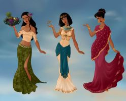 One Girl, Three Cultures by M-Mannering