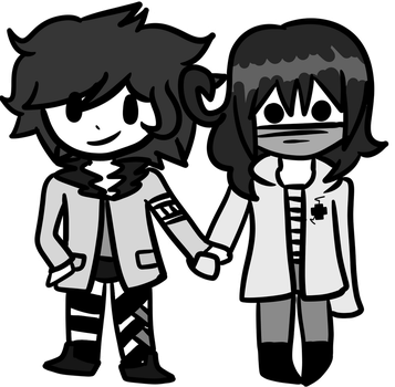 it's okay for friends to hold hands, right? by SAMPAHronpa