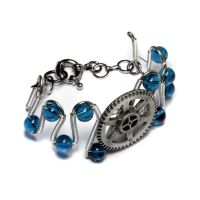 Steampunk Aqua Bracelet by CatherinetteRings