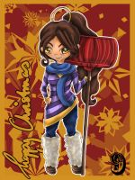 LoL Advent 2014 - Day 9 - Nidalee by enchanted-enigma