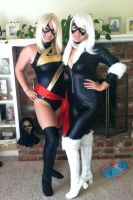 Ms Marvel and Black Cat cosplay by jedigirl528