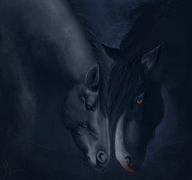 Shadowmere and Dauntless by ballare