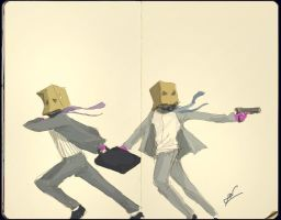 paper bag bandits by teeething