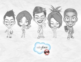SalesForce: character design. by SOSFactory