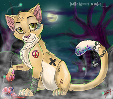 The monster cat by Amirah-the-cat