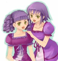 Mabinogi: Morada and Finnel by b-s-f