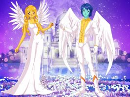Leo and Lisa as Angels!!! by Amphitrite7