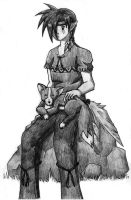 Indian Elf with fox by himeko