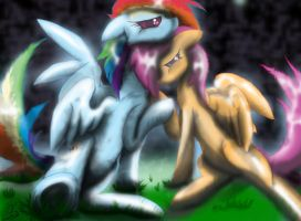 Rainbow dash and Scootaloo by goina