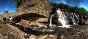 High Falls NY Panoramic by jnati