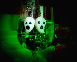 Glow in the Dark Ghost Earring by Christine-E