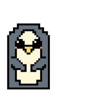 Gunter the Pixel Penguin by skittlefueled