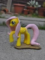 Fluttershy sculpture 2 by Blindfaith-boo