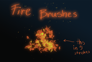 Fire Brushes by Keithalia