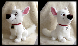 Disney Store 2012 Sitting Bolt Plush by The-Toy-Chest