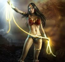 Wonder Woman Character Art By Kleber By Devil Th-d by teesha899