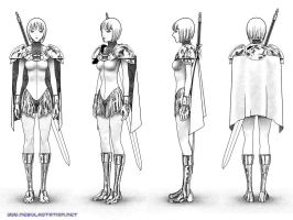 Warrior from Claymore manga by Walter-NEST