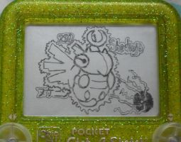 Shedinja etch a sketch by pikajane