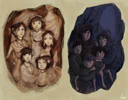 The Five Refugees by Isaia