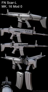 FN SCAR MK16 by Artificialproduction