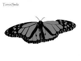 Monarch Butterfly stencil by terrorsmile