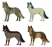 (Make An Offer) Tribal Canine Adoptables by Fells-Adopts