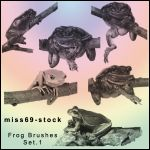 Frog Brushes Set.1 by miss69-stock