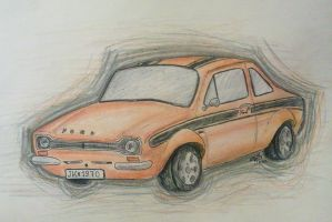 Ford Escort by KnifeInToaster