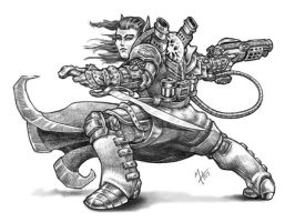 Gunmage-Warcaster by Howietzer