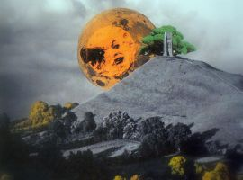 'Moonrise over Glastonbury Tor'. by Flutingspirit
